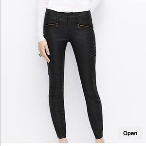 AT cargo moto coated super skinny jeans
